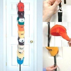 Over the door hat organizer